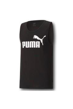 Puma 586670 Essential Tank T-shirt Uomo con Logo Smanicato Nero T-Shirts 58667001