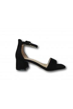 Gold & Gold GD310 Sandali Donna Tacco Medio con Cinturino alla Caviglia Nero Sandali GD310NR