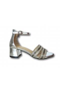 Gold & Gold GD319 Sandali Donna con Cinturino alla Caviglia Strass Argento Sandali GD319AR
