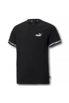 Puma 585997 Amplified Tee T-shirt Mezza Manica Bambino Nero Abbigliamento Bambino 58599701