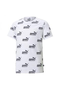 Puma 585999 Amplified AOP Tee T-shirt Mezza Manica con Stampa Logo Bambino Bianco Abbigliamento Bambino 58599902
