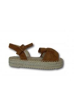 XTI 57454 Sandali Bambina Platform con Cinturino alla Caviglia Cuoio Scarpe Bambina XTI57454CU