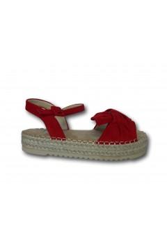 XTI 57454 Sandali Bambina Platform con Cinturino alla Caviglia Rosso Scarpe Bambina XTI57454RSS