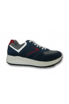 IMAC 503010 Scarpe Uomo Sneakers Stringate Made in Italy Blu Rosso Sneakers IMAC503010BLURSS