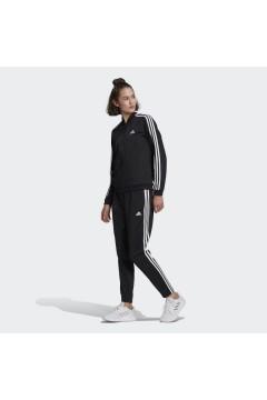 Adidas GM5534 Essentials 3 Strisce Tuta Completa Donna Acetato Nero Abbigliamento Sportivo GM5534