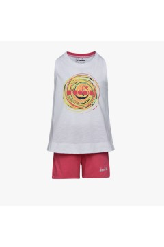 Diadora 102.177121 JG Set SL Twister Junior Bambina Bianco  Abbigliamento Bambina 10217712120002