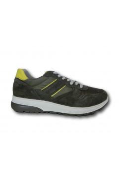 IMAC 702010 Scarpe Uomo Sneakers Stringate Made in Italy Verde Sneakers IMAC702010VERDE