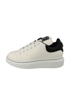 SARA LOPEZ SLS21051A Sneakers Donna Stringate Oversize Platform Bianco Nero Francesine e Sneakers SLS21051ABIA