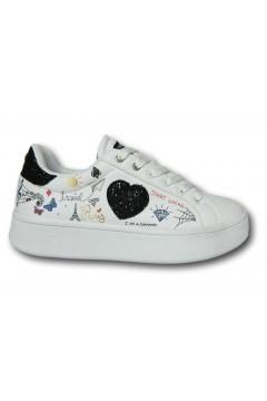 Enrico Coveri 118720 Scarpe Donna Sneakers Stringate Bianco  Francesine e Sneakers EC118720BIANR