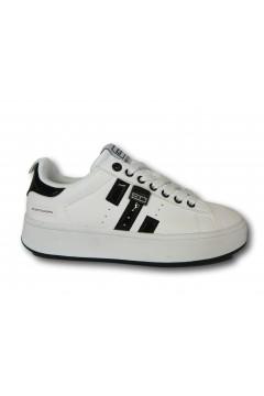 Enrico Coveri 117720 Scarpe Donna Sneakers Stringate Bianco Nero Francesine e Sneakers EC11772002BINR