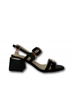 Laura Biagiotti 6754 Scarpe Donna Sandali Tacco Medio Nero Sandali LB6754NR