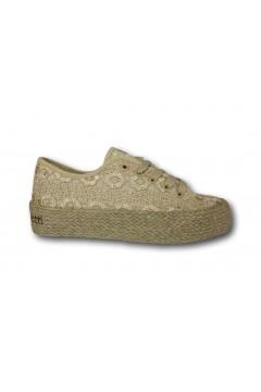 Laura Biagiotti 6025 Scarpe Donna Espadrillas Stringate Platform Beige Francesine e Sneakers LB6025BEI