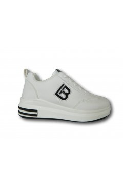 Laura Biagiotti 6723 Scarpe Donna Sneakers Stringate Bianco Francesine e Sneakers LB6723BIA