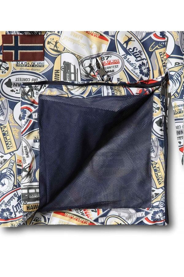 Napapijri NA4FDL Rainforest Summer Print 2 Giacca Uomo Blu Giacche NA4FDL