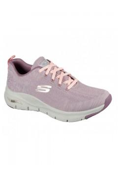 SKECHERS 149414 MVE Scarpe Donna Sneakers Memory Foam Arch Fit Rosa Francesine e Sneakers 149414MVE