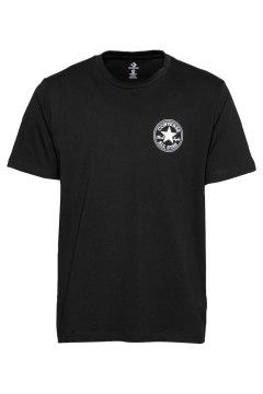 Converse 10021631 T-Shirt Remix Chuck Taylor Patch Graphic Tee Uomo Nero T-Shirts 10021631A01