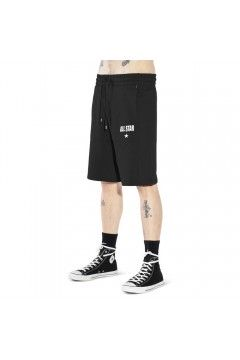 Converse 10022537 All Star Mens Classic Long Bermuda Made in Italy Nero Pantaloni e Shorts 10022537A02