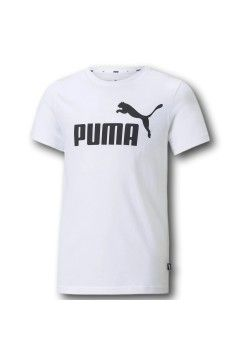 Puma 586960 Essential Youth Logo T-Shirt Bambino Bianco Abbigliamento Bambino 58696002