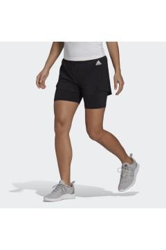 Adidas GL4033 W 2in1 SHO Short Donna Nero Pantaloni e Shorts GL4033