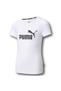 Puma 587029 Essential Logo Tee T-shirt Bambina Bianco Abbigliamento Bambina 50702902