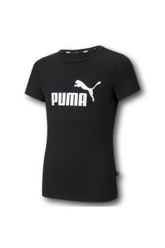 Puma 587029 Essential Logo Tee T-shirt Bambina Nero Abbigliamento Bambina 50702901