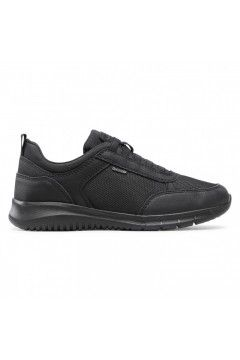 Geox U MONREALE C U15BVC Sneakers Uomo con Lacci Elastici Nero Casual U15BVC01106C9999