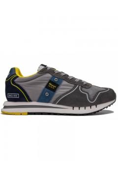 Blauer QUARTZ01 Cam Sneakers Uomo Grigio  Sneakers S1QUARTZ01CAMGR
