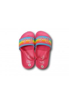 Barbie 1765 Ciabatte Fascia con Elastico Mare Piscina Bambina Fuxia Rainbow Scarpe Bambina BA1765FXA