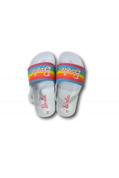 Barbie1765 Ciabatte Fascia con Elastico Mare Piscina Bambina Bianco Rainbow Scarpe Bambina BA1765BNC
