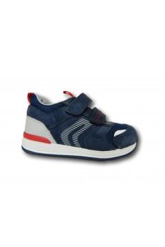Geox B RISHON B150RB Scarpe Bambino Primi Passi Doppi Strappi Blu Scarpe Bambino B150RB02214C4002