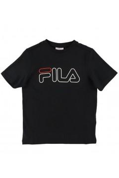 Fila 683332 Teens Boys Juleon Graphic Tee T-Shirt Bambino Mezza Manica Nero Abbigliamento Bambina FL683332002