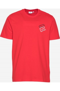 Fila 683277 Men Janto Graphic Tee T-Shirt Uomo Manica Corta Rosso T-Shirts FL683277006