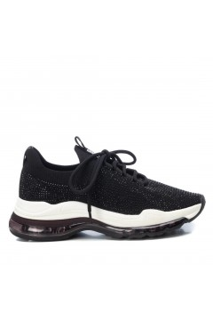 XTI 42584 Scarpe Donna Sneakers Stringate con Strass Nero Francesine e Sneakers XTI42584NR