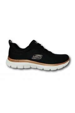 SKECHERS 149303 BKRG Scarpe Donna Sneakers Memory Foam Black Gold Francesine e Sneakers 149303BKRG