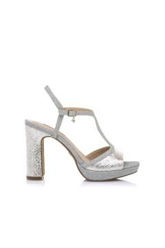 MARIAMARE 68175 Sandali Donna con Tacco Alto con Cinturino Argento Sandali MM68175AR