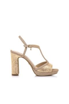 MARIAMARE 68175 Sandali Donna con Tacco Alto con Cinturino Oro Sandali MM68175ORO