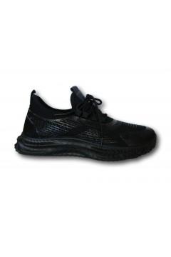 ROCCOBAROCCO RB212 Scarpe Uomo Sneakers Stringate Nero Sneakers RB212NR