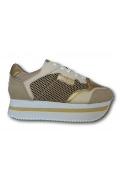 LANCETTI 83512 Sneakers Donna Platfoarm Stringate Beige Francesine e Sneakers LT83512SDB