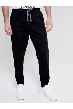 LTB 47015 REGIDA Pantaloni Pantalaccio Uomo in Cotone Nero Pantaloni e Shorts LTB47015NR