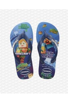 Havaianas Kids Minecraft Fc 4145125 Infradito Blu Scarpe Bambino 4145125001