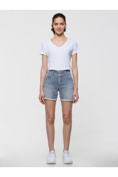 LTB 60645 BECKY X Zinnia Wash Pantaloncini Jeans Donna Blu Pantaloni e Shorts LTB60645BLU