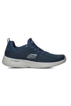 SKECHERS 58360 NVY Scarpe Uomo Sneakers Memory Foam Lacci Elastici Blu Scarpe Sport 58360NVY