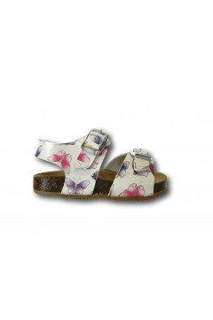 Evoca Bio Made in Italy EJ018 Sandali Bambina Primi Passi con Fascia Regolabile Bianco Scarpe Bambina EJ018BIA