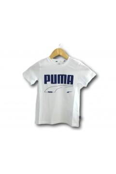 Puma 587018 Rebel Tee T-shirt Mezza Manica Bambino Bianco Abbigliamento Bambino 58701852