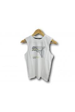 Puma 585850 Active Sport Sleeveless Tee T-shirt Smanicato Bambino Bianco Abbigliamento Bambino 58585002