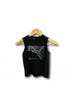 Puma 585850 Active Sport Sleeveless Tee T-shirt Smanicato Bambino Nero Abbigliamento Bambino 58585001