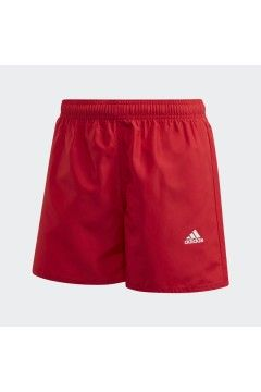 Adidas GE2048 Costume da Bagno Short Classic Badge of Sport Rosso Abbigliamento Bambino GE2048