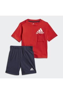 ADIDAS GM8941 Set Completino Tshirt + Pantaloncini Rosso Abbigliamento Bambino GM8941