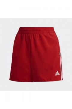 Adidas GN3108 Short Essentials 3-Stripes Pantaloncini Rosso Bianco Abbigliamento Sportivo GN3108