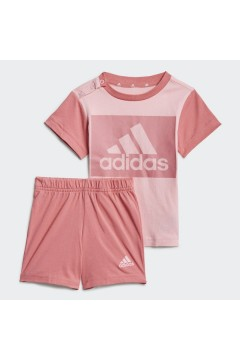ADIDAS GN3927 Set Completino Tshirt + Pantaloncini Rosa Abbigliamento Bambina GN3927